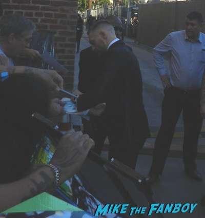 Conor McGregor signing autographs jimmy kimmel live 2015 4