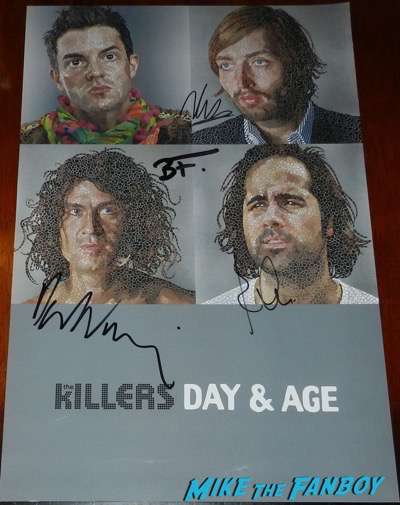 the killers signed autograph day and age poster brandon Flowers