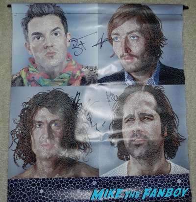 the killers signed autograph day and age vinyl banner brandon Flowers