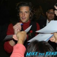 Brandon Flowers The Killers Signing Autographs Jimmy Kimmel Live 2015 1