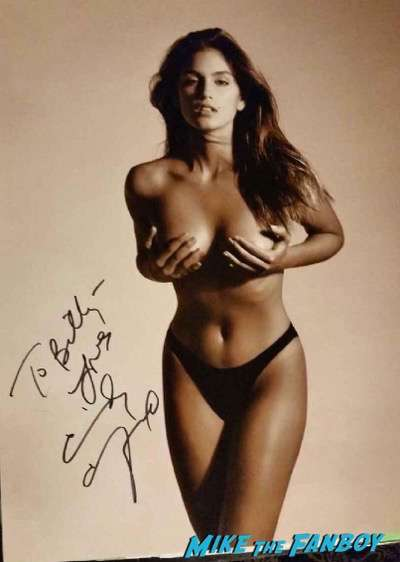 Cindy Crawford signed autograph nude photo