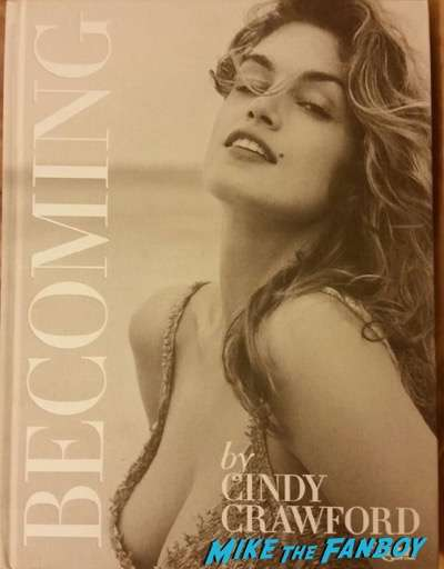 Cindy Crawford signed autograph book