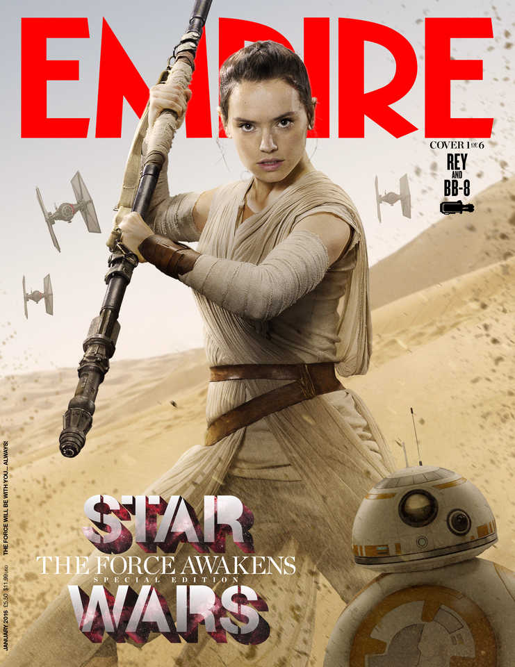 star wars the force awakens rey daisy ridley lenticular cover EMP_JAN16Cover_1_Rey