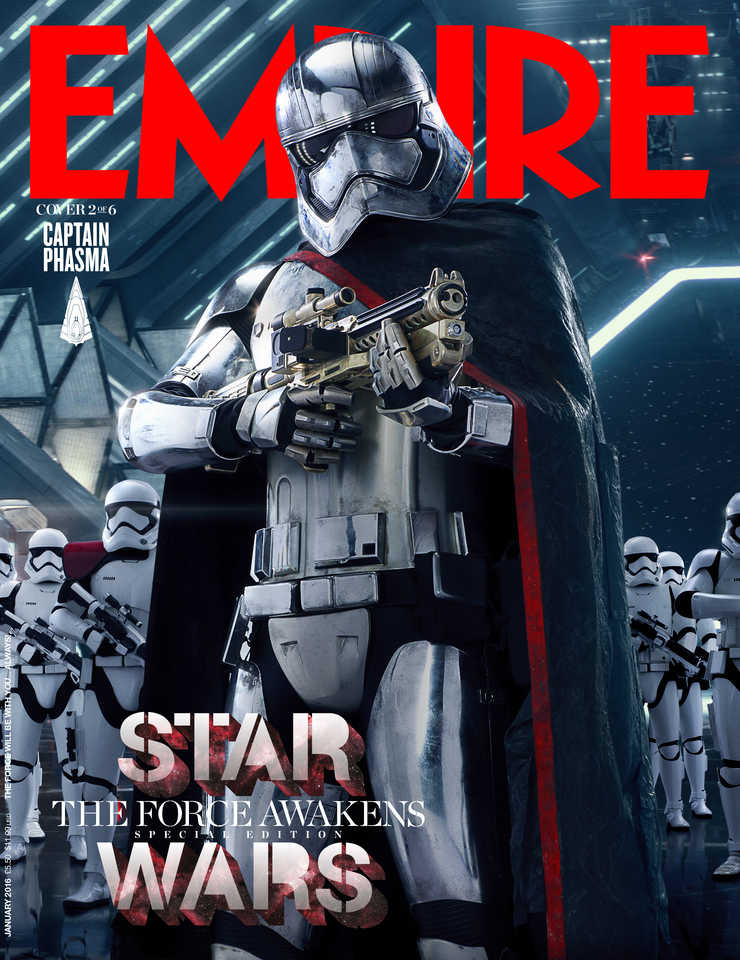 star wars the force awakens captain phasma gwendolyn christie lenticular cover EMP_JAN16Cover_1_Rey