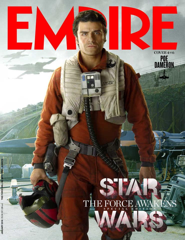 star wars the force awakens oscar isaac poe lenticular cover EMP_JAN16Cover_1_Rey