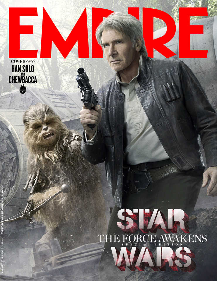 star wars the force awakens harrison ford han solo lenticular cover EMP_JAN16Cover_1_Rey