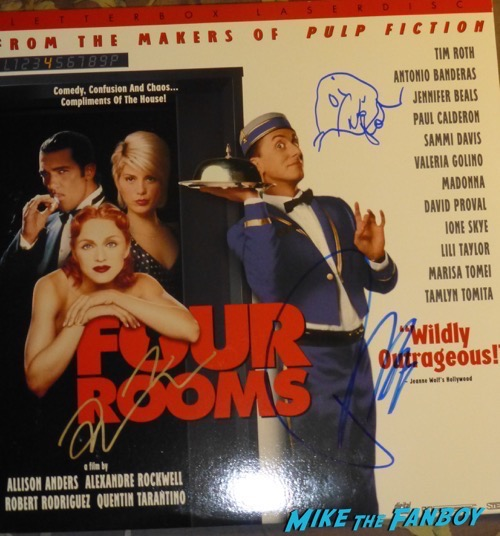 Tim Roth Signed four rooms laser disc