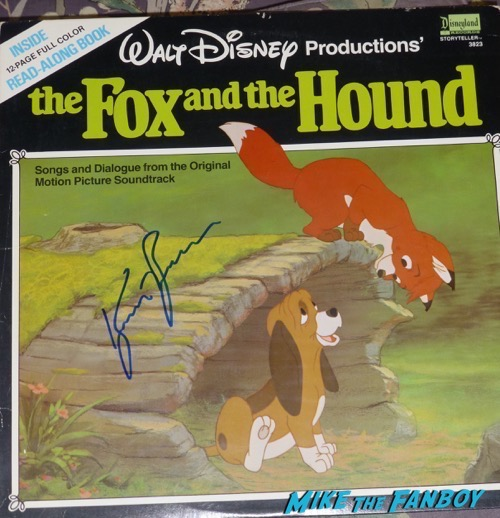 Kurt Russell Signed Autograph Fox and the Hound lp