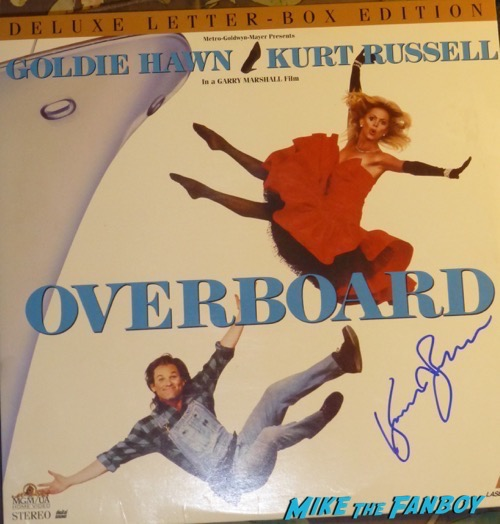 Kurt Russell Signed Autograph Overboard Laser Disc