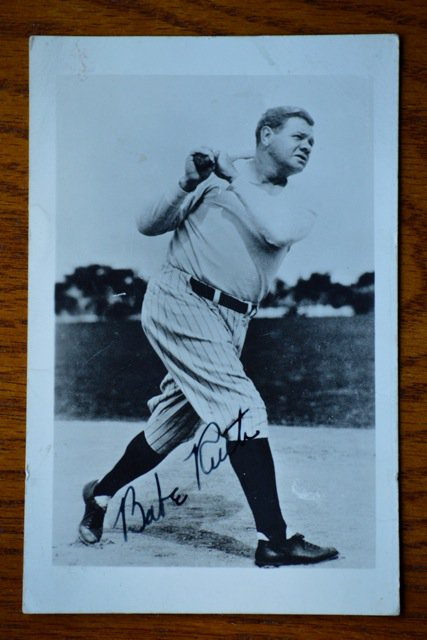 babe Ruth-Photo autograph