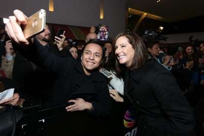 MEXICO CITY, MEXICO - DECEMBER 08: Producer Kathleen Kennedy attends the Fan Event and Q&A of Star Wars The Force Awakens at the Cinemex Antara In Mexico City, Mexico, December 08, 2015. The World Premiere will be the next December 18. (Photo by Victor Chavez/Getty Images for Walt Disney Studios)