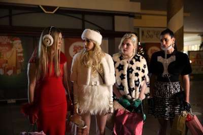 "SCREAM QUEENS: L-R: Billie Lourd, Emma Roberts, Abigail Breslin and Lea Michele in the ""Black Friday"" episode of SCREAM QUEENS airing Tuesday, Dec. 1 (9:00-10:00 PM ET/PT) on FOX. ©2015 Fox Broadcasting Co. Cr: Patti Perret/FOX."