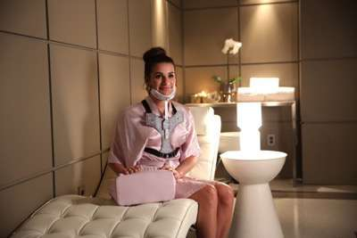"SCREAM QUEENS: Lea Michele in the ""Black Friday"" episode of SCREAM QUEENS airing Tuesday, Dec. 1 (9:00-10:00 PM ET/PT) on FOX. ©2015 Fox Broadcasting Co. Cr: Patti Perret/FOX."