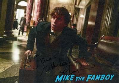 eddie redmayne signed autograph photo