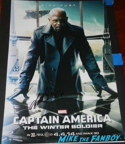 Samuel l jackson signed autograph captain america the winter soldier character poster