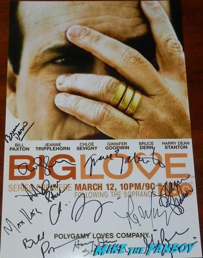 bruce dern signed autograph big love poster
