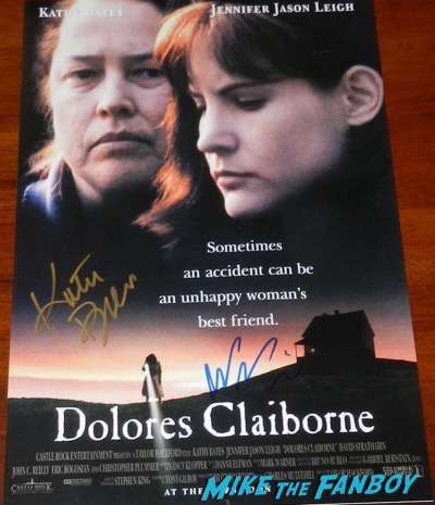 jennifer jason leigh signed dolores Claiborne mini poster kathy bates