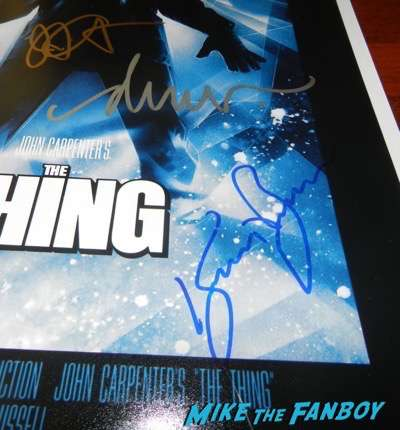 kurt russell signed autograph the thing poster