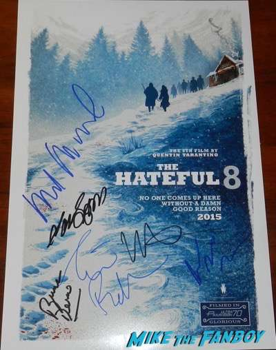 The Hateful Eight signed autograph poster kurt russell samuel l jackson