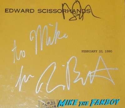 Tim Burton signed autograph edwards scissorhands shooting script