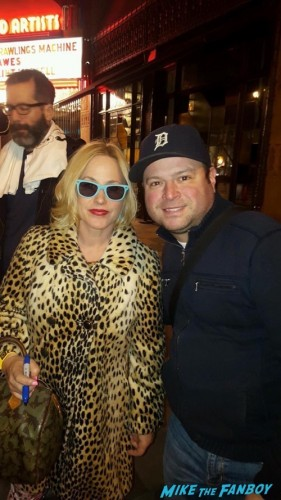 True Romance Live Read Patricia Arquette signing autographs fan photo 4