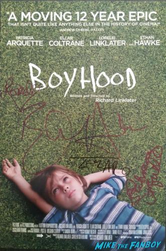 Patricia Arquette signed boyhood mini poster