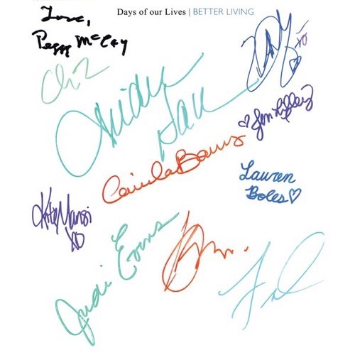 Days of our lives better living signed book