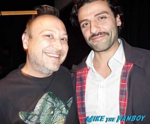 Oscar Isaac fan photo rare selfie