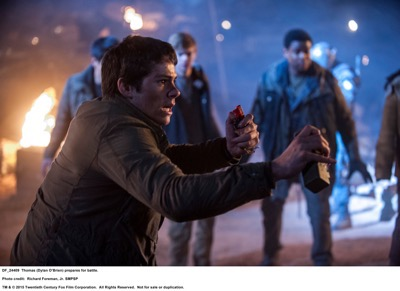 MAZE RUNNER: THE SCORCH TRIALS  Thomas (Dylan O'Brien) prepares for battle.  Photo credit:  Richard Foreman, Jr. SMPSP  TM and © 2015 Twentieth Century Fox Film Corporation.  All Rights Reserved.  Not for sale or duplication.