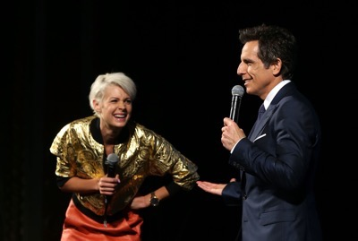SYDNEY, AUSTRALIA - JANUARY 26:  Ben Stiller and Kate Peck attend the Sydney Fan Screening Event of the Paramount Pictures film 'Zoolander No. 2' at the State Theatre on January 26, 2016 in Sydney, Australia.  (Photo by Caroline McCredie/Getty Images for Paramount Pictures) *** Local Caption *** Ben Stiller; Kate Peck