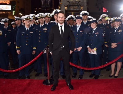 HOLLYWOOD, CA - JANUARY 25:  Actor Josh Stewart and the cast of Disneyís ìThe Finest Hoursî were greeted by the U.S. Coast Guard Band, Honor Guard and throngs of fans at the filmís premiere earlier tonight at the TCL Chinese Theater on Hollywood Blvd. The heroic action-thriller opens in U.S. theaters this Friday, January 29.  (Photo by Alberto E. Rodriguez/Getty Images for Disney) *** Local Caption *** Josh Stewart