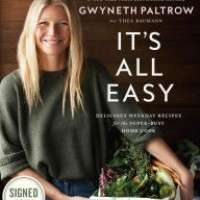 gwyneth paltrow it's all easy signed book
