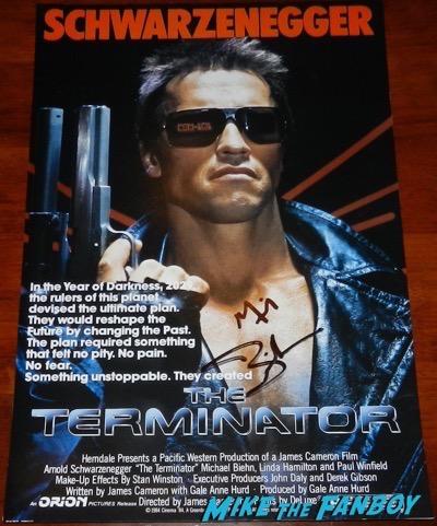 Michael Biehn signed autograph terminator poster
