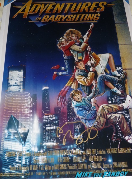 Anthony Rapp signed autograph adventures in babysitting 1