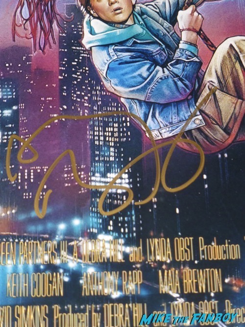 Anthony Rapp signed autograph adventures in babysitting 4