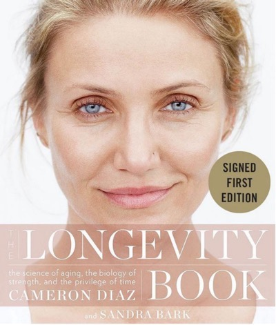 Cameron Diaz signed book longevity 1