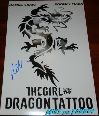 Rooney Mara signed autograph The Girl With the Dragon Tattoo poster