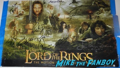 Cate Blanchett signed autograph lord of the rings trilogy poster