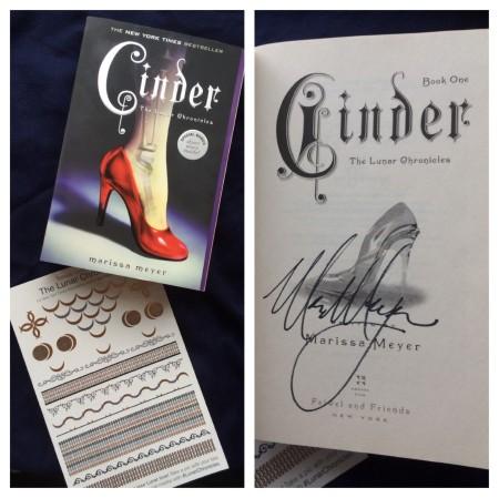 Cinder signed giveaway