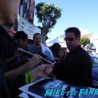 David Duchovny signing autographs walk of fame star ceremony 4 2