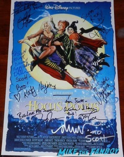 Drew Struzan signed Hocus Pocus poster
