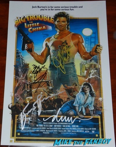 Drew Struzan signed Big trouble in little china poster
