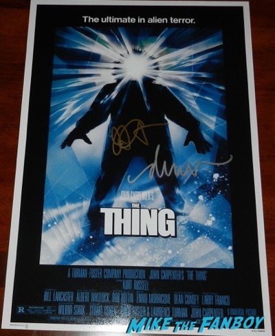 Drew Struzan signed the thing poster