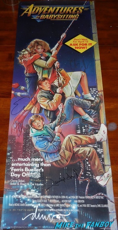 Drew Struzan signed adventures in babysitting poster