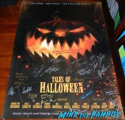 Drew Struzan tales of halloween signed autograph poster