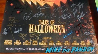 Drew Struzan tales of halloween signed autograph poster