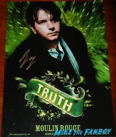 Ewan McGregor signed autograph moulin rouge individual christian poster