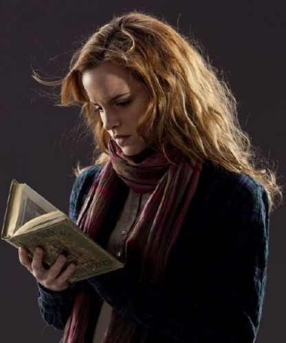 Hermione reading