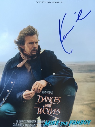 KEvin Costner signed Dances with Wolves