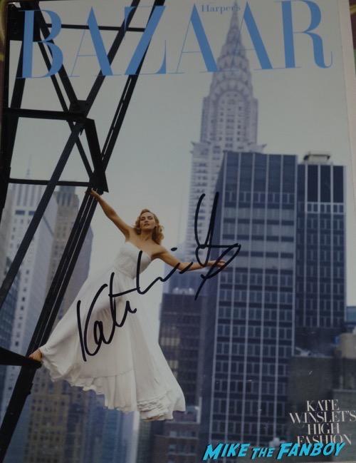 Kate Winslet signed autograph magazine bazaar